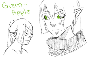 Green-apple by snowflare123