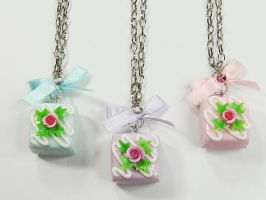 Rose Square Chocolate Necklace by SweetandCo