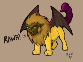 Chibi Manticore by LadyScourgE