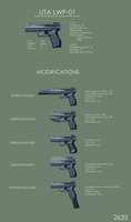 Light Pistol Concept by Equiliari