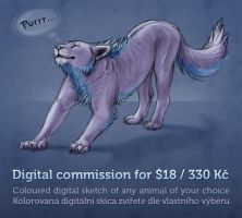 Digital commissions open! Win one for free! by Dragarta