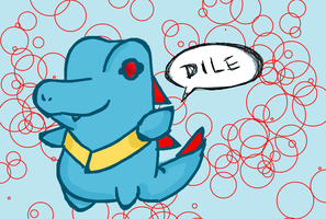 Totodile chibi by Kat-The-Piplup