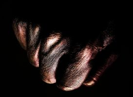 Fist body painting by Meddling-With-Nature
