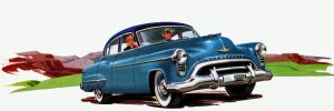 age of chrome and fins : 1950 Oldsmobile by Peterhoff3