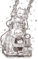 INKTOBER 2016 [DAY 18 - SORIEL FAMILY / UNDERTALE] by Rumay-Chian
