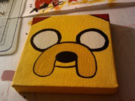 Adventure Time - Jake on Canvas by Hatpire