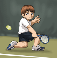 Commission - Tennis Boy by ErinPtah