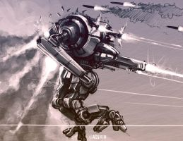 Mech Warrior - Uziel by Shimmering-Sword