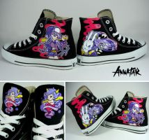 Custom Converse Chucks for Valentine by Annatarhouse