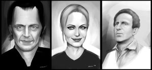 quick portraits by gekonum
