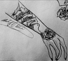 Tattoo Design Wrapped With Love Close Up by WolfDagger369