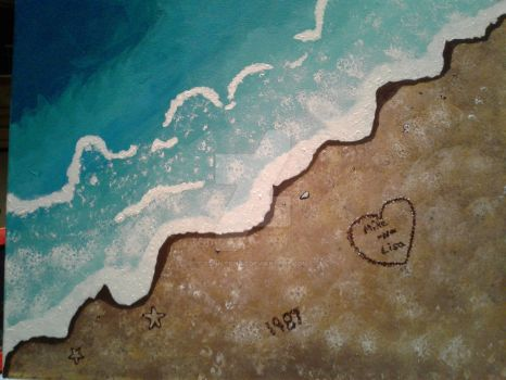 Beach Painting by BonnieBell2