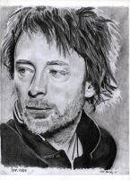 Thom Yorke pencil portrait by Kidlinkman