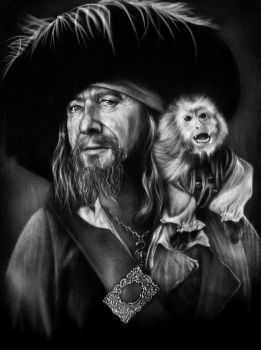 Barbossa T-Shirt by Jackolyn