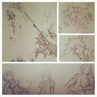 daily doodling ~ Kingdom hearts by 6wendybird91