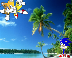 Tails and Sonic Vacation by Mephilez