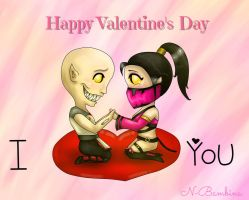 Happy Valentine's Day [Baraka y Mileena] by PrincessNetherrealm
