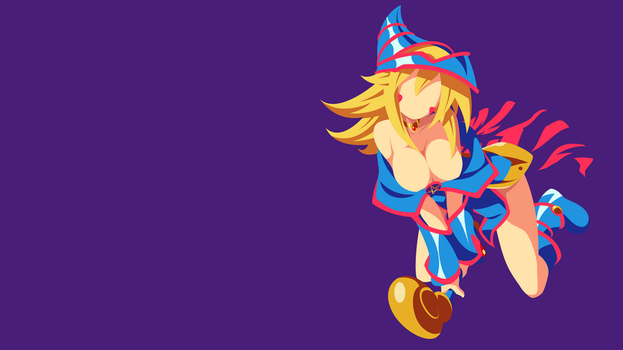YuGiOh - Dark Magician Girl minimalism wallpaper by Carionto