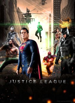 Justice League 2017 Movie Poster by Timetravel6000v2