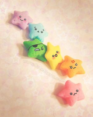 Crazy Colorful Kawaii Stars by The-Cute-Storm