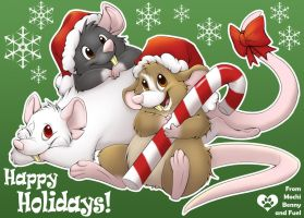 Happy Holidays from the Rats by Nyaasu