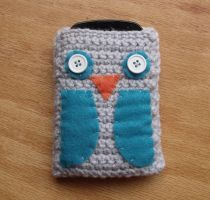 Owl Cell Phone Cozy by LiebeTacos