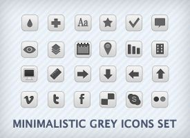 grey icons set by abdelhakimknis
