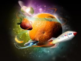 Fruits galaxy by BraveDesign