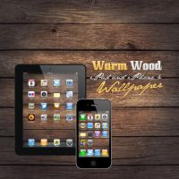 iP4 + iPad Warm Wood Wallpaper by Martz90