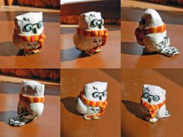 Hedwig Potter (Owl Clay Figure) by nicolaykoriagin