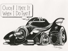 Batmobile Challenged by RamageArt