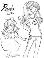 Paula and Teen Paula by OmitsuMarceXD