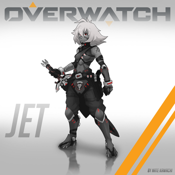 Jet Blackwatch Agent (SU x Overwatch) by TheGraffitiSoul