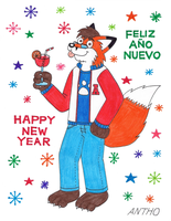 Happy New Year 2014 !!! by AnthoFur