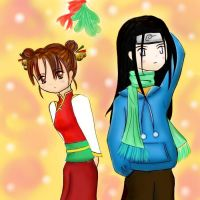 nejiten: mistletoe by featheredwings