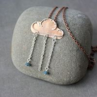 Copper cloud pendant by WhiteSquaw
