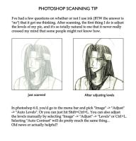 Tip for scanning pencil work by Lizeth
