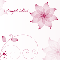Stylish Flower Vector Background by 123freevectors