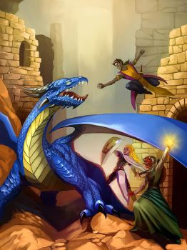 The Blue Dragon's Quest by iara-art