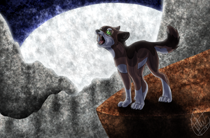 Howling Wolf background remake by West-Kitsune