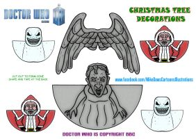 Doctor Who - Christmas Tree Decorations by mikedaws