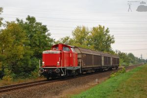 DB212 w. freight train in Gyor by morpheus880223