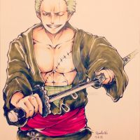 One Piece- Zoro by iplaywfire