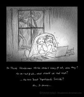 Always close your curtains at night..... by Thundertori