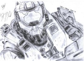 Halo: Master Chief - Drawing by Dario4Slash