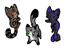 6 pt kitties :D by xStormAdopts