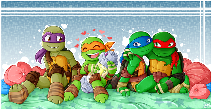 Cuties In A Half Shell by Akane-The-Fox