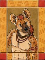 Spotted Hyena Totem by XianJaguar