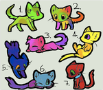 Adoptables BATCH 5 by Halfkit