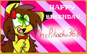 Happy Birthday, Pika! (LATE LATE LATE I'M SORREEE) by spectrapaws